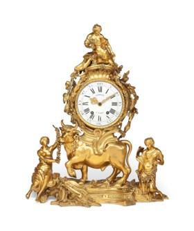 A FRENCH ORMOLU CLOCK