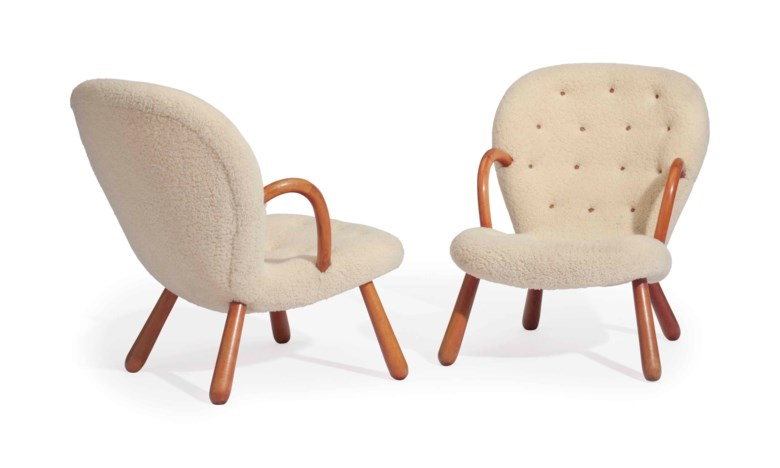 Philip Arctander (1916-1994), A PAIR OF CLAM ARMCHAIRS, DESIGNED 1944. Each 32 ¼ (81.9  cm) high. Estimate $20,000-40,000. This lot is offered in JF Chen Collection on 13 February 2018  at Christie's in New York