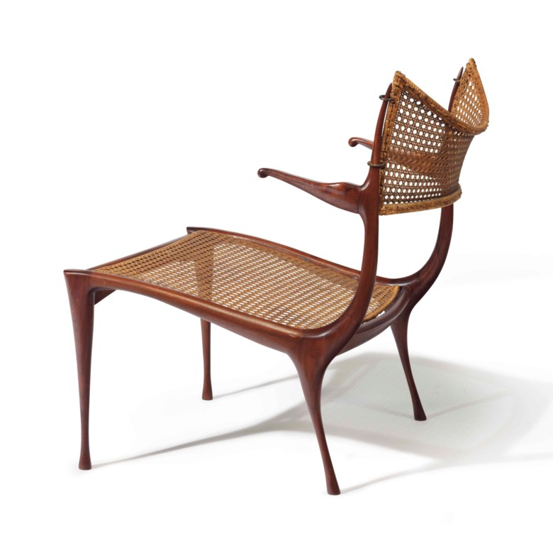 Dan Johnson (1918-1979), a Gazelle lounge chair, circa 1958. 28  in (71.2  cm) high. Estimate $6,000-9,000. This lot is offered in the JF Chen Collection on 13 February 2018  at Christie's in New York