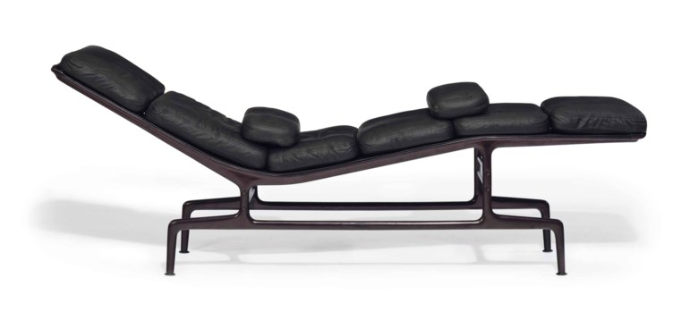 Charles (1907-1978) and Ray Eames (1912-1989), an ES106 chaise longue, designed 1968. 28½  in (72.4  cm) high, 75  in (190.5  cm) wide, 17  in (45.7  cm) deep. Estimate $3,000-5,000. This lot is offered in the JF Chen Collection on 13 February 2018  at Christie's in New York