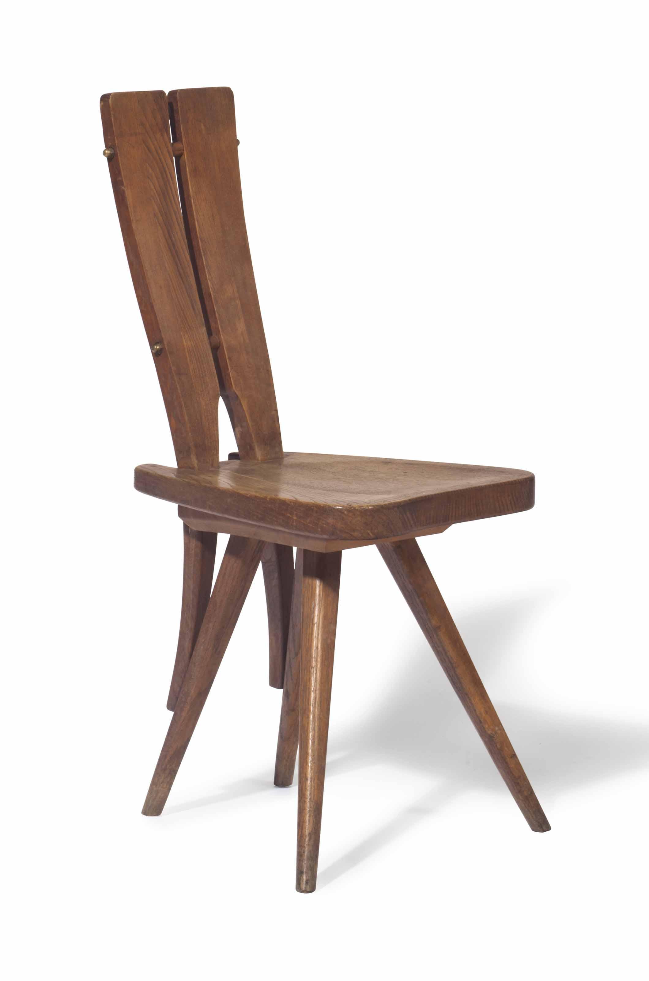 Carlo Mollino (1905 1973), A Side Chair For The Casa Del Sole, Cervinia,  Designed 1953. 36 ½ In (93 Cm) High. Estimate: $30,000 50,000.