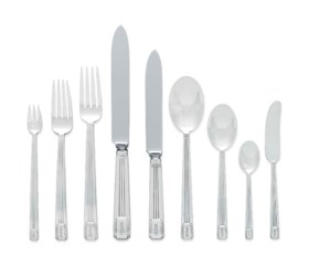 AN AMERICAN SILVER FLATWARE SERVICE OF PRESIDENTIAL INTEREST