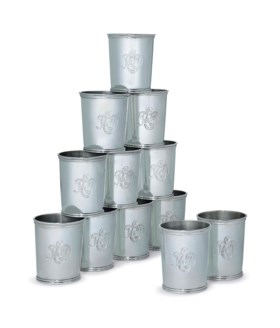 A SET OF TWELVE AMERICAN SILVER JULEP CUPS OF PRESIDENTIAL INTEREST