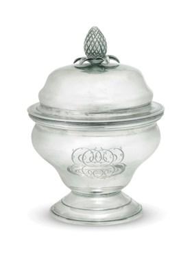 AN AMERICAN SILVER SUGAR BOWL AND COVER