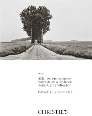 HCB : 100 photographies proven auction at Christies