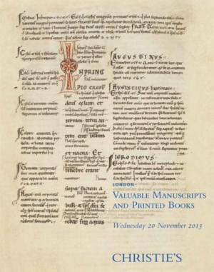 Valuable Manuscripts and Print auction at Christies