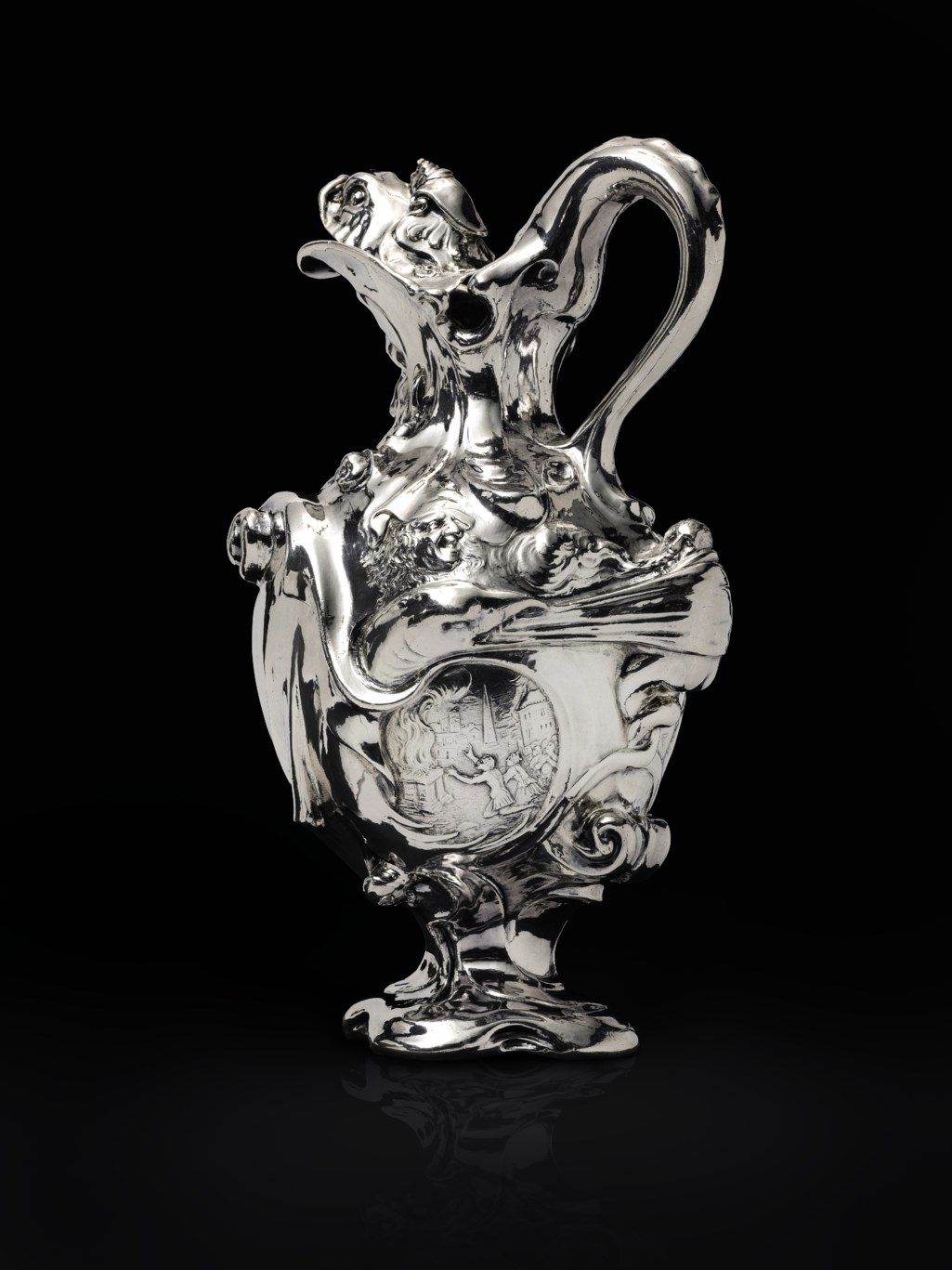 AN EXCEPTIONAL DUTCH SILVER EWER
