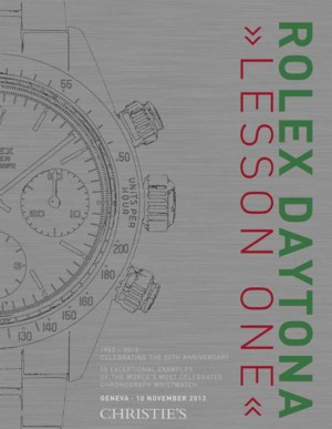 """Rolex Daytona """"Lesson One"""" 50  auction at Christies"""