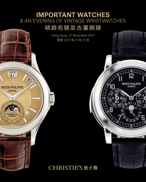 Important Watches & an Evening of Vintage Wristwatches