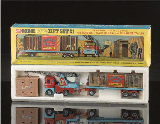 A Corgi Gift Set 21 Chipperfields Circus Crane With