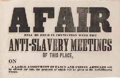 Civil War Anti Slavery Movement Printed Broadside