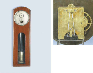 A Victorian Mahogany Wall Regulator With Denison S Gravity