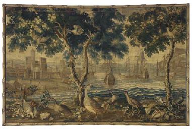 A beauvais ports de mer tapestry circa 1700 by philippe behagle or no l antoine de m rou - Philippe campion ...