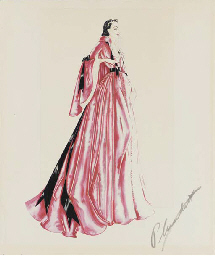 Vivien Leigh Costume Design Sketch Signed By Walter