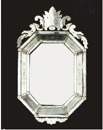 Miroir octogonal de style venitien christie 39 s for Miroir venitien