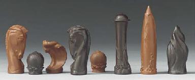 A Meissen Stoneware Futuristic Chess Set Designed By Max