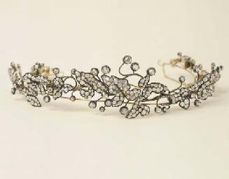 Antica tiara in oro e argento con diamanti christie 39 s for Tiara di diamanti