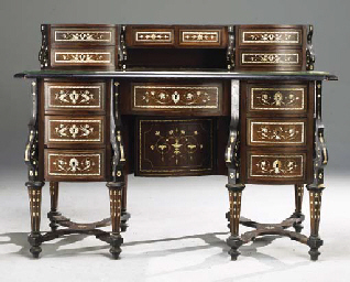 bureau mazarin de style louis xiv vers 1900 christie 39 s. Black Bedroom Furniture Sets. Home Design Ideas