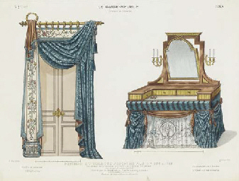 after desire guilmard active 19th century le garde meuble ancien et moderne four plates. Black Bedroom Furniture Sets. Home Design Ideas