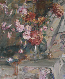 Nicolai fechin 1881 1955 still life vase of flowers for Nicolai fechin paintings for sale