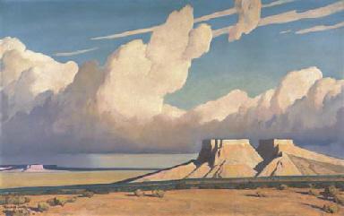 Maynard Dixon 1875 1946 Desert Mesa Christie S