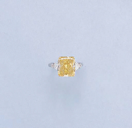 A Fancy Yellow Diamond Ring By Graff Christie S