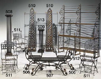 armature de paravent en fer forge xx me siecle christie 39 s. Black Bedroom Furniture Sets. Home Design Ideas
