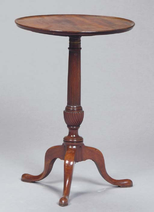 Adaptable Early 19th C George Iii Octagonal Yew Wood Antique Candle Stand 1800-1899