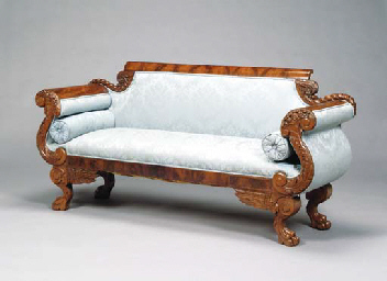 An American Empire Mahogany Sofa 19th Century Christie 39 S