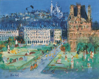 Jean dufy 1888 1964 jardin des tuileries le pavillon for Le pavillon de bailly