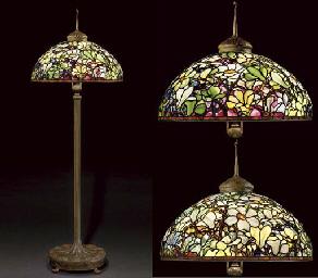 Tiffany Studios A Magnificent Magnolia Leaded Glass
