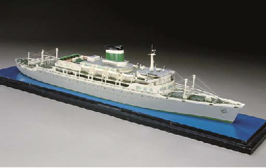 A Travel Agents Waterline Model Of The S S Santa Paula