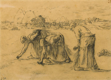 the gleaners painting essay The gleaners (des glaneuses) is an oil painting by jean-françois millet completed in 1857 it depicts three peasant women gleaning a field of.