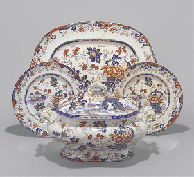 A Charles Meigh Amp Son Amherst Japan Pattern Stone China Part Dinner Service Circa 1840