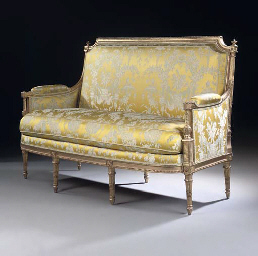 a louis xvi giltwood canape by louis delanois late 18th. Black Bedroom Furniture Sets. Home Design Ideas