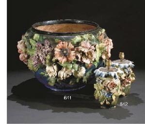 grand cache pot en barbotine vers 1900 christie 39 s. Black Bedroom Furniture Sets. Home Design Ideas
