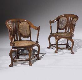 paire de fauteuils de style chippendale christie 39 s. Black Bedroom Furniture Sets. Home Design Ideas