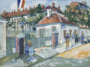 Maurice utrillo 1883 1955 la caserne lourcine boulevard de port royal paris christie 39 s - Boulevard du port royal paris ...