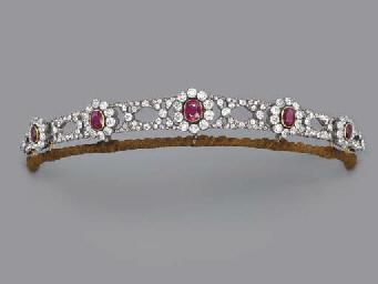 Diamond For Sale >> AN ANTIQUE RUBY AND DIAMOND TIARA | Christie's