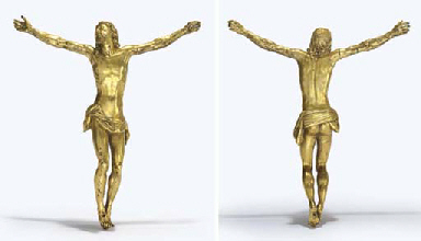A Gilt Bronze Figure Of Christ Attributed To Giambologna