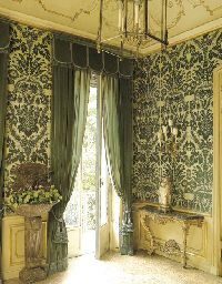 Three Pairs Of Dark Green Velvet Curtains Circa 1960