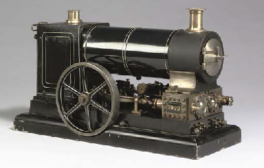Locomotives For Sale >> A finely engineered model twin cylinder compound undertype stationary steam engine, | Christie's