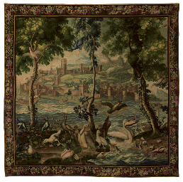 A louis xiv french 39 ports de mer 39 tapestry beauvais circa 1700 by philippe behagle or no l - Philippe campion ...
