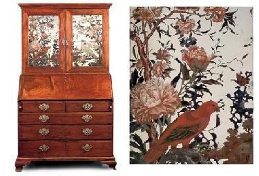 a chinese export padouk bureau cabinet mid 18th century. Black Bedroom Furniture Sets. Home Design Ideas