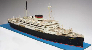 A Waterline Model Of The Italian Line Ship S S Saturnia