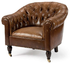 Ordinaire A BROWN LEATHER CLUB CHAIR, | BY RALPH LAUREN, MODERN | Furniture U0026  Lighting, Leather/hide | Christieu0027s