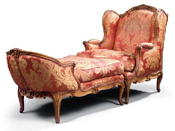 A Louis Xv Beechwood Duchesse Brisee Attributed To Jean