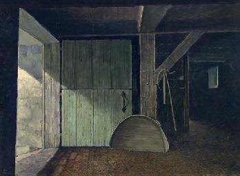 Eric Sloane 1905 1986 Barn Interior Christie S