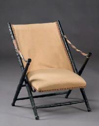 fauteuil d 39 officier pliant d 39 epoque napoleon iii christie 39 s. Black Bedroom Furniture Sets. Home Design Ideas