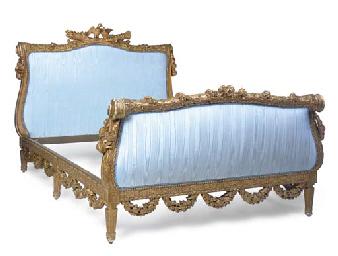 a louis xvi style giltwood lit de repos last quarter 19th century christie 39 s. Black Bedroom Furniture Sets. Home Design Ideas